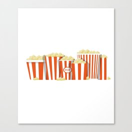 Movies and Popcorn Canvas Print