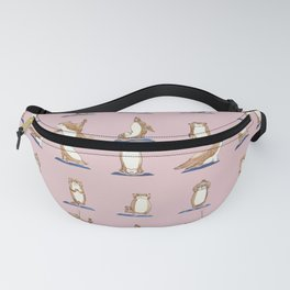 Otter Yoga Watercolor Fanny Pack