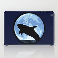 onesie iPad Cases featuring Dolphin bubbly in the moonlight by kamonkey