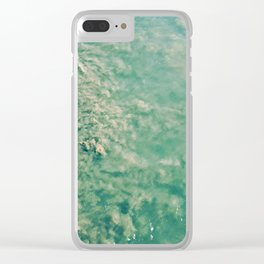 Earth Tones Clear iPhone Case