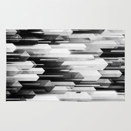 obelisk posture 3 (monochrome series) Rug