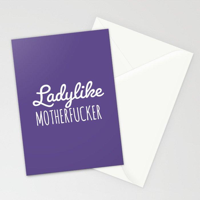 Ladylike Motherfucker (Ultra Violet) Stationery Cards