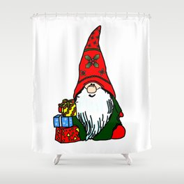Yule Gnome Shower Curtain