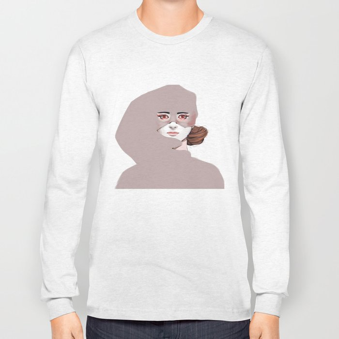 Untitled in Red Long Sleeve T-shirt