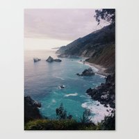 Canvas Prints featuring Big Sur Sunset by Alicia Magnuson
