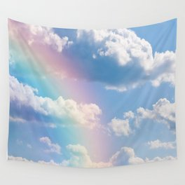 Sunny Rainbow Sky Dream Wall Tapestry