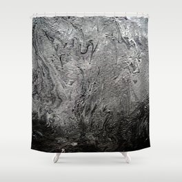 Black Lava II Shower Curtain