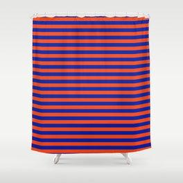 Florida Team Colors Stripes Shower Curtain