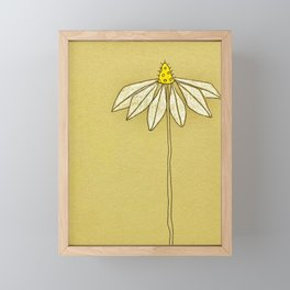 Simple Chamomile Framed Mini Art Print