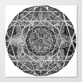 Milkweed Mandala Canvas Print