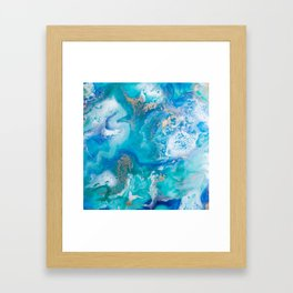Into the Blue Lagoon Framed Art Print