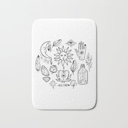 Bohemian magic alchemy print Bath Mat