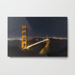 The Bridge at Night Metal Print