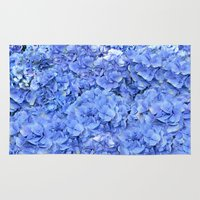 hydrangea Area & Throw Rugs featuring Hydrangea by Anne Seltmann