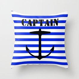 Captain and anchor logo Throw Pillow