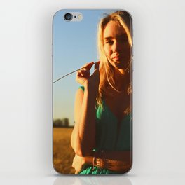 girl on the field iPhone Skin