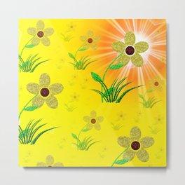 flower,abstract pattern in metal Metal Print