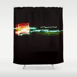 Night Lights Santa Monica Holiday Inn Shower Curtain