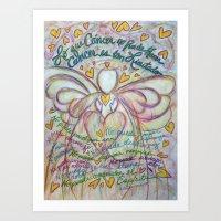 Spanish Cancer Angel Art Print