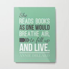 Annie Dillard - Typography Poster Metal Print