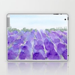 lavender farm Laptop & iPad Skin