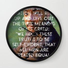 I have a dream - Martin Luther King Junior Wall Art Portrait, Speech, Home Decor, Dorm Decor Wall Clock
