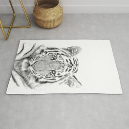 Black and white tiger Rug