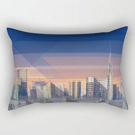 Futuristic Milan Skyline Rectangular Pillow