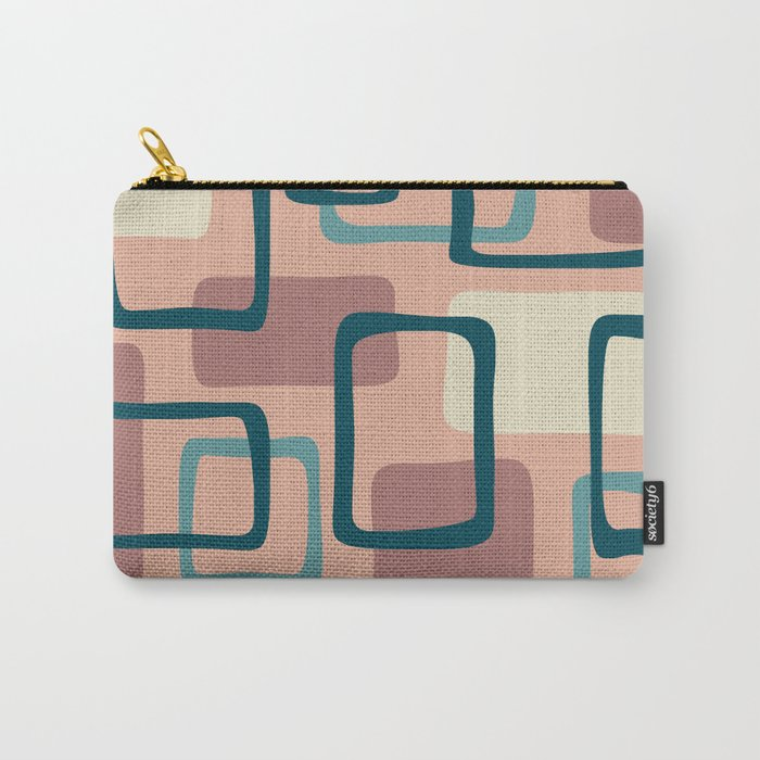 Mid Century Modern Abstract Squares Pattern 445 Carry-All Pouch
