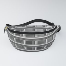 Optical illusion with metal bars Fanny Pack