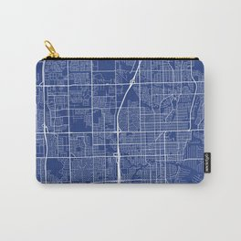 Fort Lauderdale Map, USA - Blue Carry-All Pouch