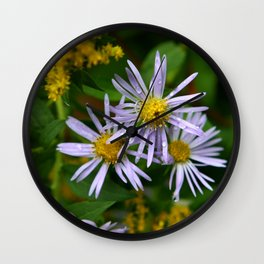 Fall Flowers in New Hampshire No. 4 Wall Clock