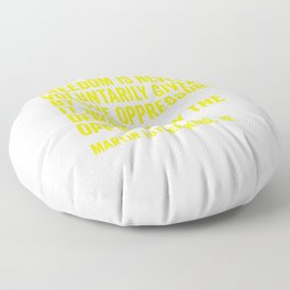 Martin Luther King Quote in Yellow Floor Pillow
