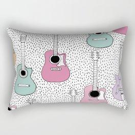 Cool pop music guitar illustration pattern Rectangular Pillow