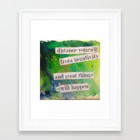 positive Framed Art Prints featuring Positive by Brianna M. Garcia