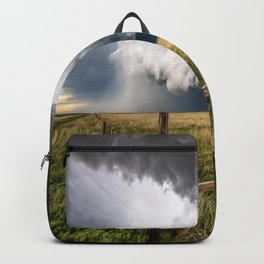 Aquamarine - Storm Over Colorado Plains Backpack