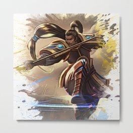 League of Legends XINZHAO Metal Print