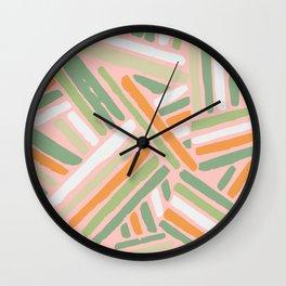 Cross stitch color var 2 Wall Clock