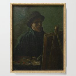 Self-Portrait as a Painter Serving Tray