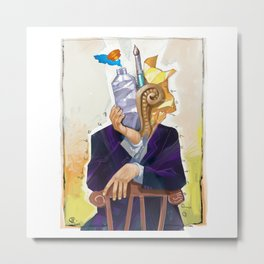 The Illustrator´s head Metal Print
