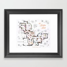 The Golden Girls House floorplan v.2 Framed Art Print