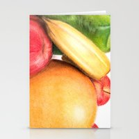 fruit Stationery Cards featuring Fruit by Ashley Jones