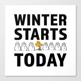 Winter start today Canvas Print
