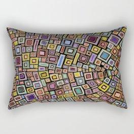 Squares Dancing Rectangular Pillow