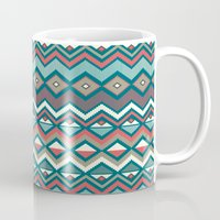 aztec Mugs featuring Aztec. by Priscila Peress