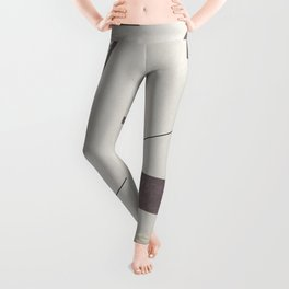 Abstract classic paper background doodle geometric patterns.No.21 Leggings