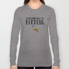 Bird Birdwatching product Gift Birdwatcher Painted Bunting Long Sleeve T-shirt