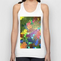 stained glass Tank Tops featuring Stained Glass by Inspired By Fashion