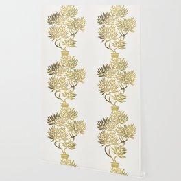 Bonsai Fruit Tree – Gold Palette Wallpaper