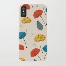 Dandelions in the wind iPhone Case